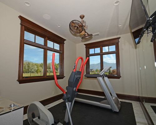 Home gym design ideas renovations photos with marble