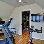 Basement Exercise Room Traditional Home Gym Chicago
