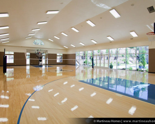 Indoor volleyball court houzz for Basketball gym designs and layout