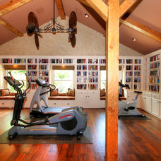 Eclectic Home Gym by Melinda Miles Interiors, LLC