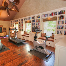 Traditional Home Gym by Melinda Miles Interiors, LLC