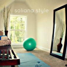 Contemporary Home Gym by Joy Home Design-staging & interiors