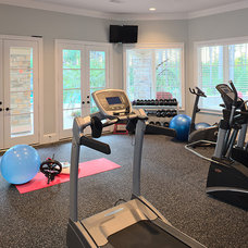 Traditional Home Gym by Frankel Building Group