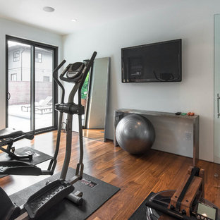 Most popular midcentury modern home gym design ideas for