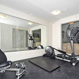 Most popular industrial white home gym design ideas for