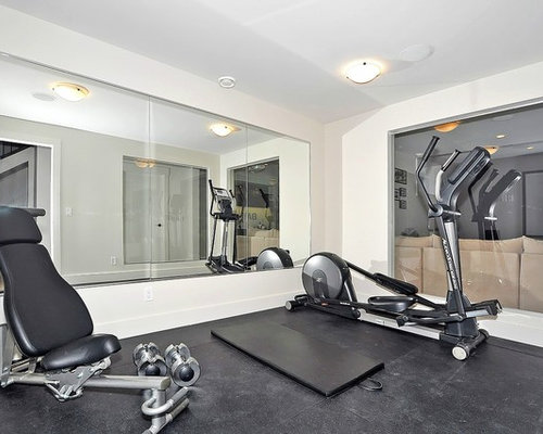 Industrial calgary home gym design ideas pictures