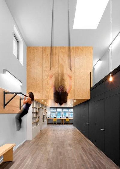 Contemporary Home Gym by TCM Custom Designs inc