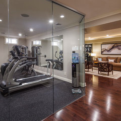 contemporary home gym by Creative Design Construction, Inc.
