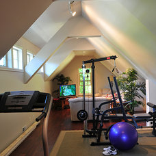 Traditional Home Gym by Haven Design Workshop