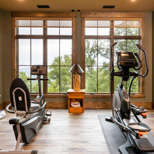 Home gym - rustic home gym idea in Other