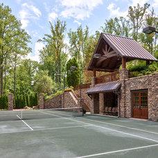 Rustic Home Gym by ACM Design