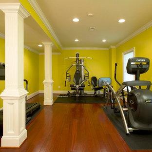 Minimalist home gym photo in DC Metro