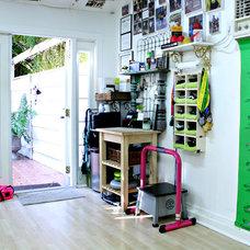 Eclectic Home Gym by Mina Brinkey