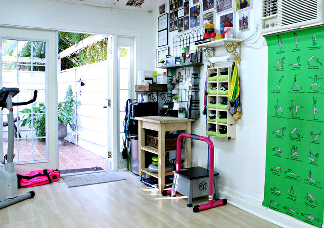 Eclectic Home Gym by Mina Brinkey