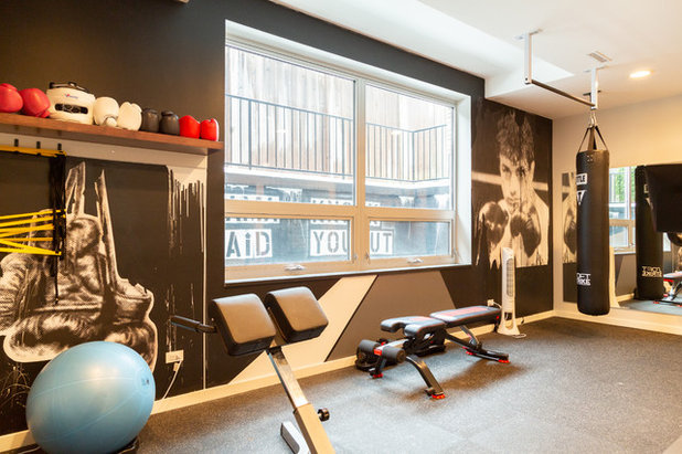 Eclectic Home Gym by Rachel Loewen Photography