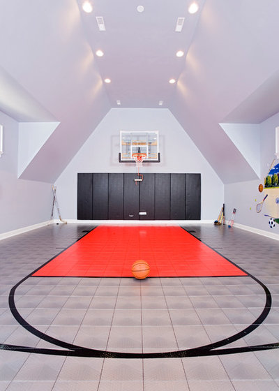 The big splurge indoor basketball courts for true hoops fans for Custom indoor basketball court