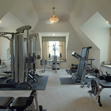 Traditional Home Gym by JF Schoch Building Corp