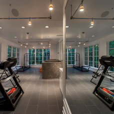 Contemporary Home Gym by Michael Matrka, Inc