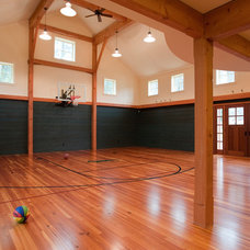 Traditional Home Gym by Landmark Services Inc