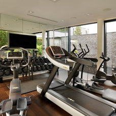 Contemporary Home Gym by Gregory Phillips Architects
