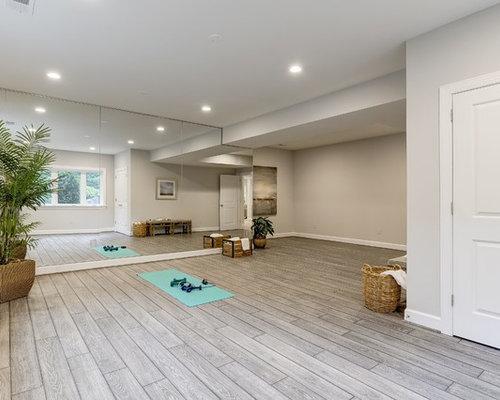 Best 70 Vinyl Floor Home Yoga Studio Ideas & Designs | Houzz