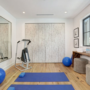 Landhaus Fitnessraum in Los Angeles