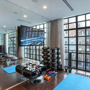 Home gym - modern home gym idea in New York