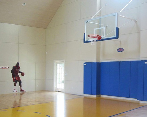Sound isolation ceiling panels home gym design ideas Indoor basketball court ceiling height