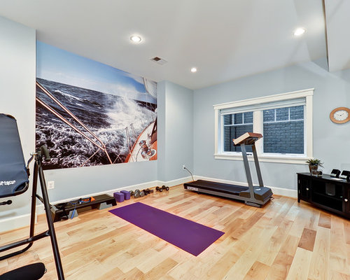 fitness studio houzz. Black Bedroom Furniture Sets. Home Design Ideas