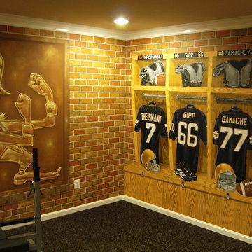 Notre Dame Football Locker Room Mural by Tom Taylor of Mural Art LLC