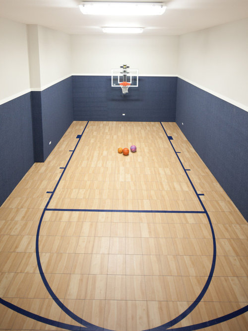 Squash court home design ideas pictures remodel and decor for Indoor basketball court design