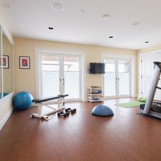 Traditional Home Gym by Kenorah Design + Build Ltd.