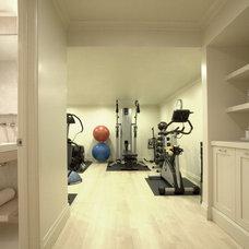 Contemporary Home Gym by Eva Quateman Interiors