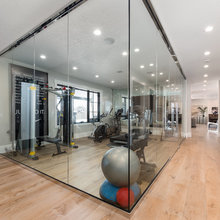 Basement glass wall ideas