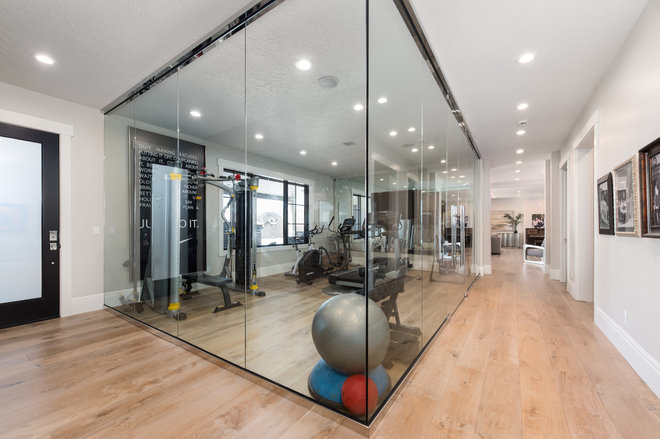 Transitional Home Gym by OSMOND DESIGNS