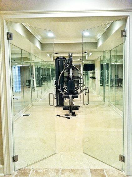 Modern Home Gym by Atlanta Glass Concepts