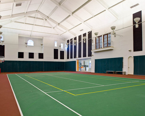 Expansive home gym design ideas renovations photos Indoor basketball court ceiling height