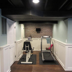eclectic home gym Our basement