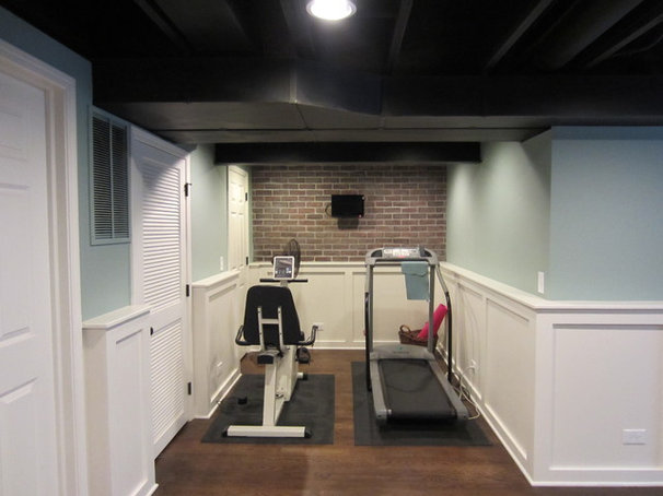 Traditional Home Gym Our basement