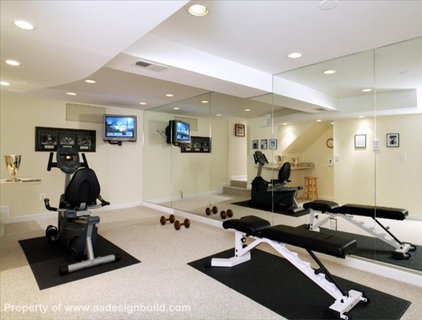 home gym by A&A Design Build Remodeling, Inc.