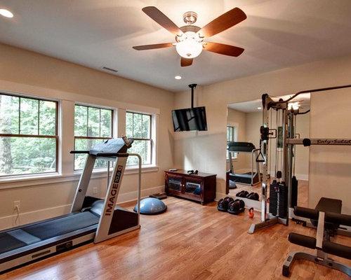 Craftsman Home Gym Design Ideas Pictures Remodel Amp Decor