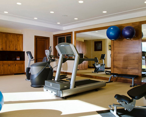 Home gym design ideas renovations photos with vinyl