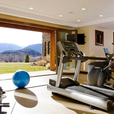 Contemporary Home Gym by Menendez Architects PC