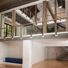 Transitional Home Gym by JAMES DIXON ARCHITECT PC