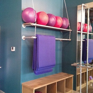 Contemporary home gym in Houston.