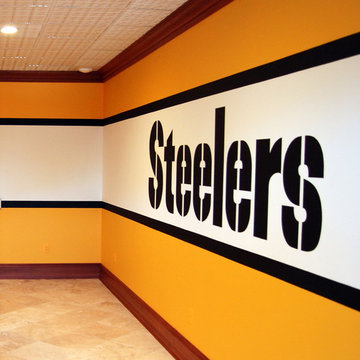 Pittsburgh Steelers 1970's Locker Room Mural by Tom Taylor of Wow Effects, in VA