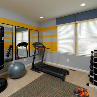 75 small home gym design ideas  stylish small home gym