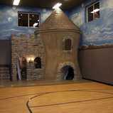 Under Garage Basketball Court Traditional Home Gym Salt Lake City By Walker Home Design