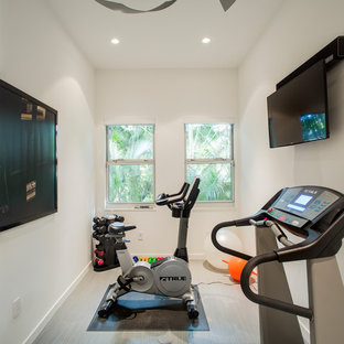 Most popular small vinyl floor home gym design ideas for