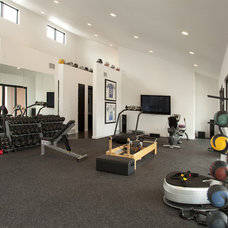 Modern Home Gym by Gryboski Builders Inc.
